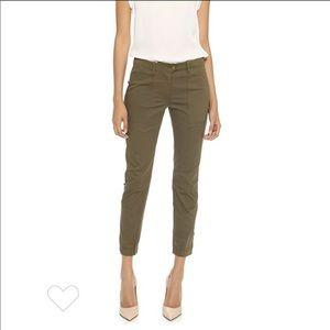 Veronica Beard Field Cargo Ankle Army Green Pants